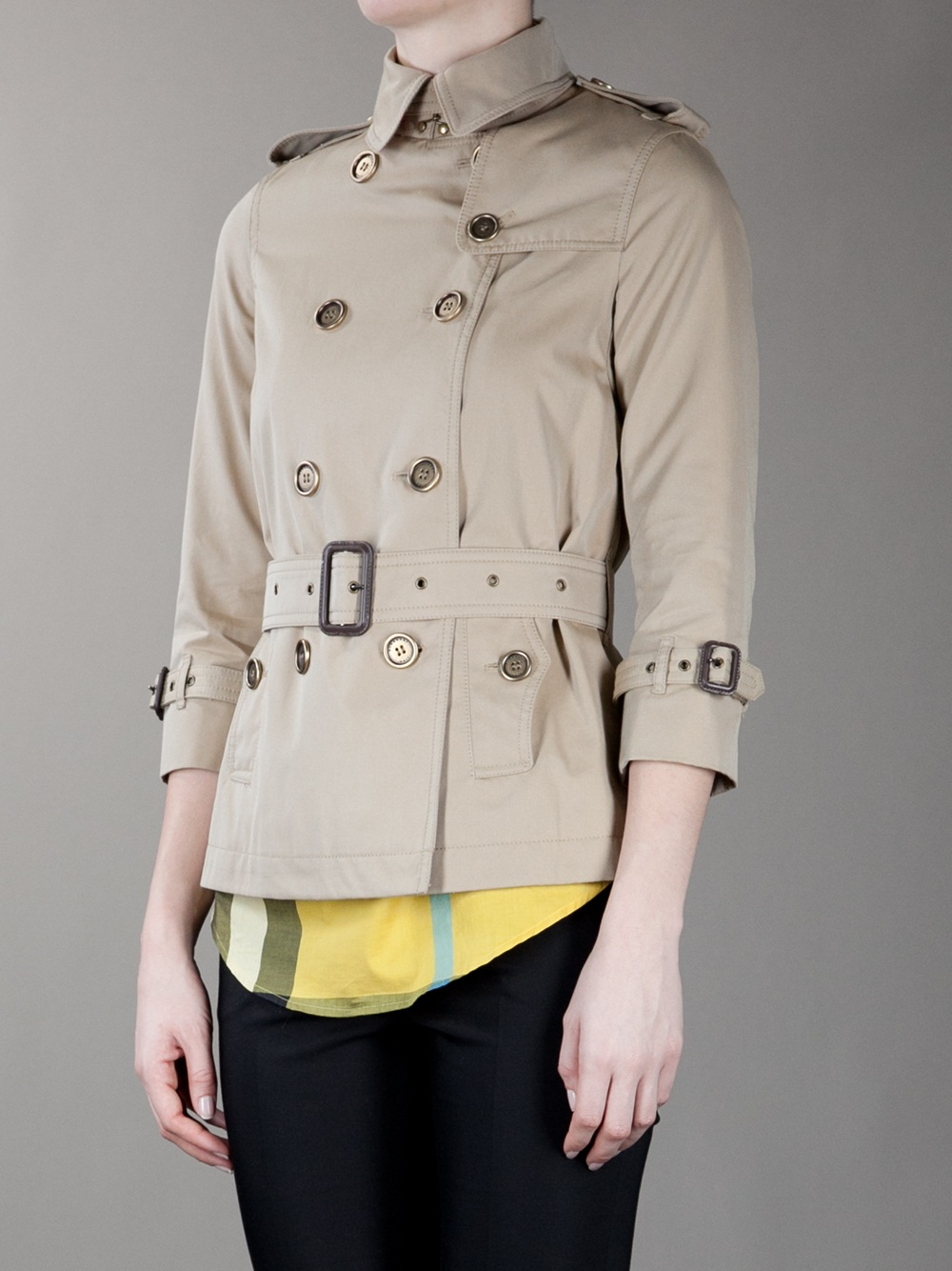 Burberry Short Trench In Beige