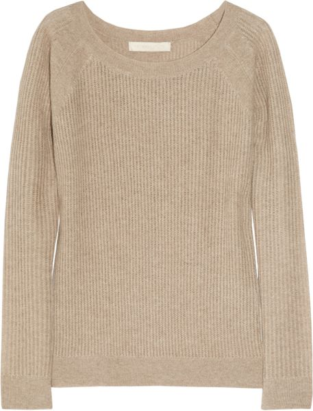 Vanessa Bruno Fine-knit Cashmere and Wool-blend Sweater in Beige (oatmeal)