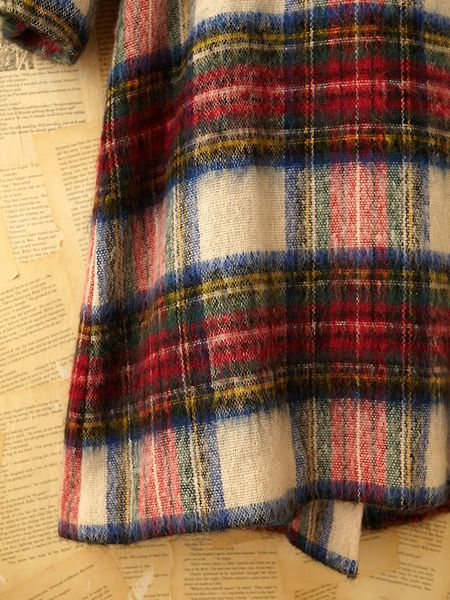 Free People Vintage Brushed Plaid Coat In Multicolor