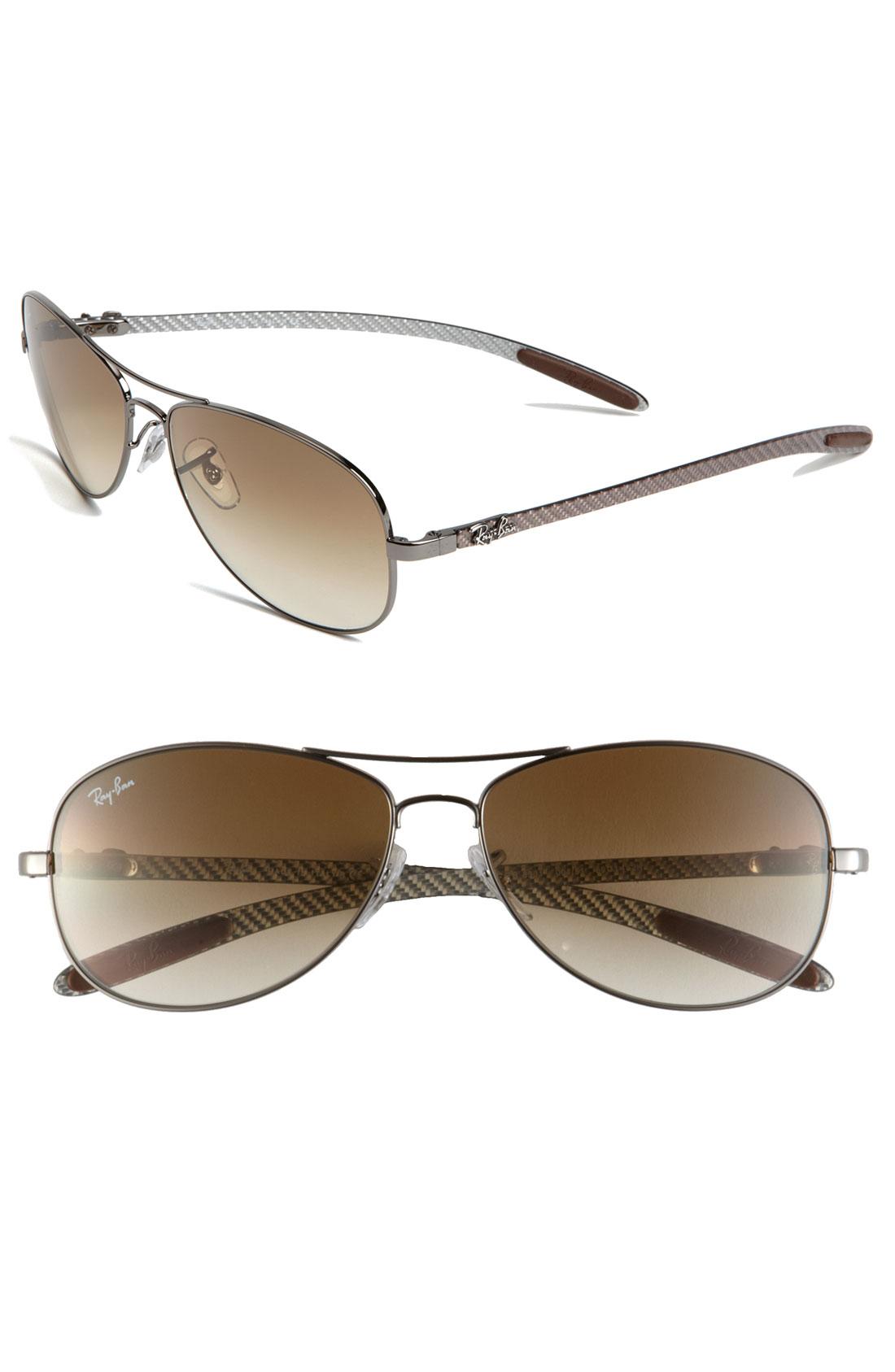brown ray ban aviators sunglasses