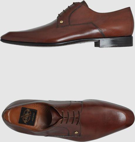 f1041d81d77 Aldo Brue' Aldo Brue - Laced Shoes in Brown for Men | Lyst