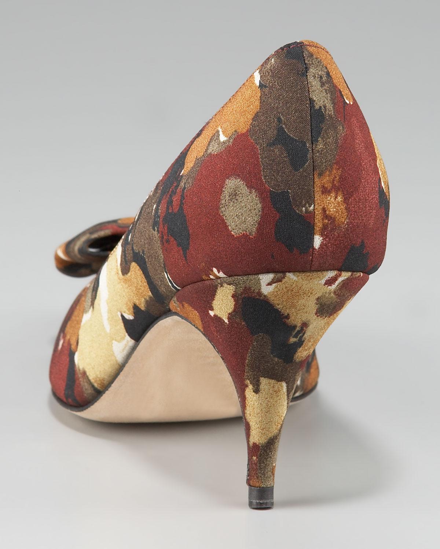 Bettye Muller Camo Print Bow Pump Lyst