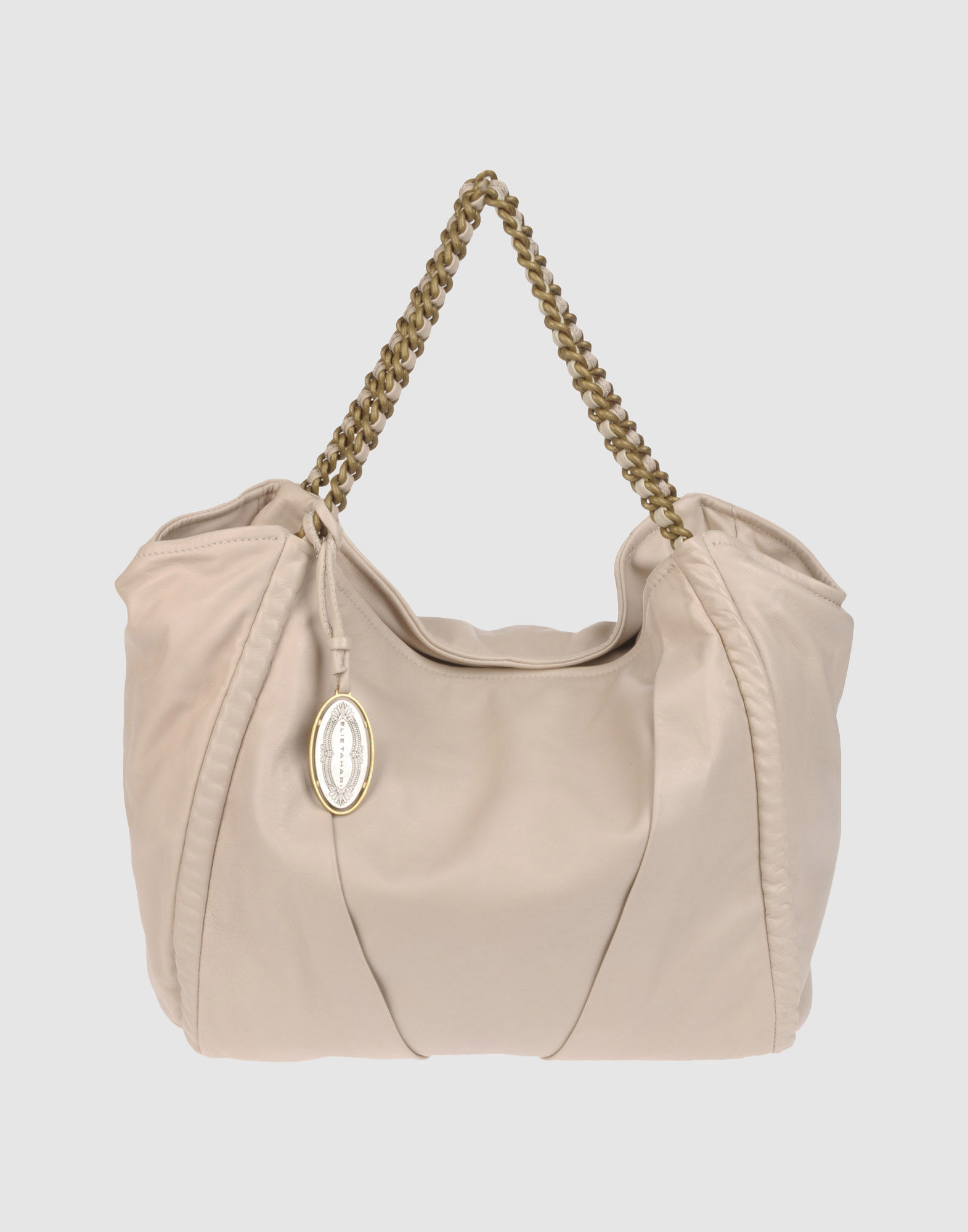 Elie Tahari Large Leather Bags In Natural Lyst
