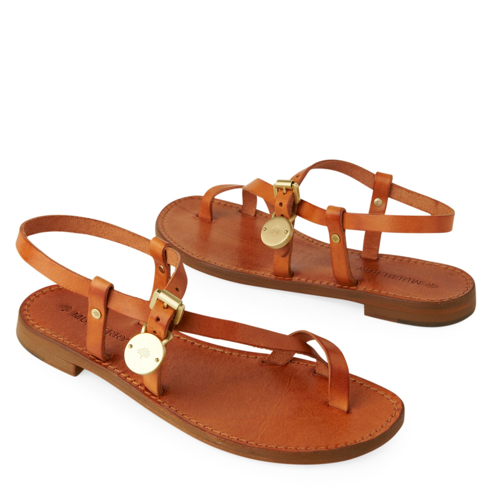 Mulberry Bayswater Sandals In Brown Lyst