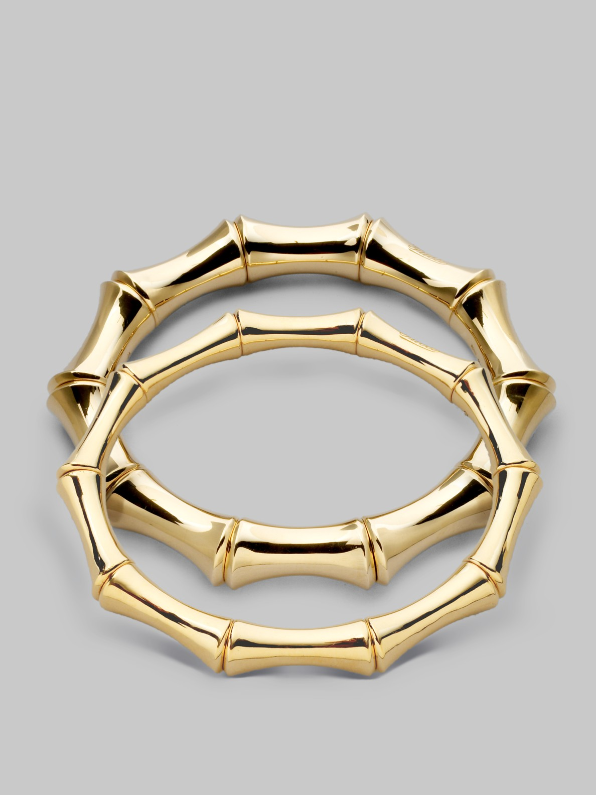 Gucci 18k Yellow Gold Large Bamboo Bracelet In Gold Lyst