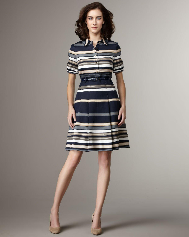 Lyst Kate Spade New York Jeanette Stripe Dress In Blue