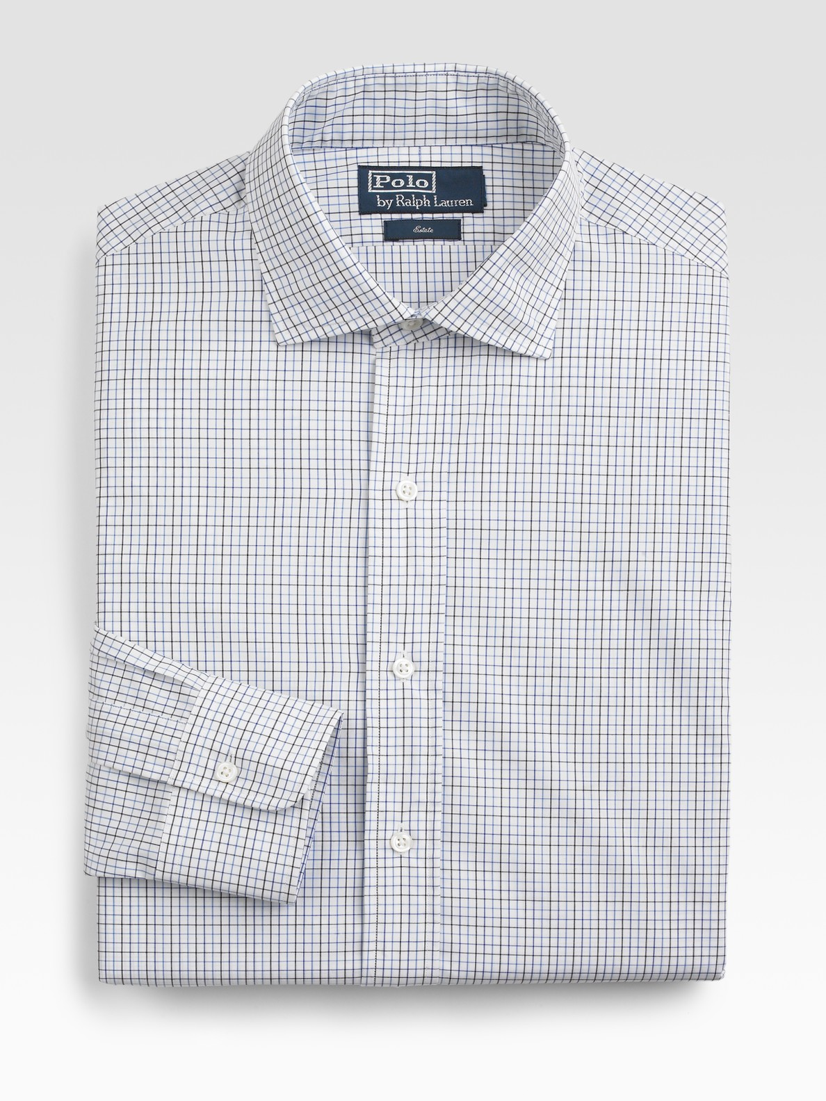 Lyst Polo Ralph Lauren Custom Fit Checked Estate Dress Shirt In