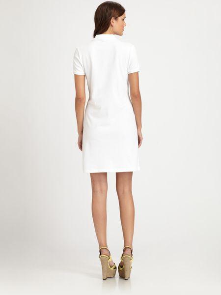 e9bde966c7b Burberry Brit Stretch Cotton Polo Dress in White