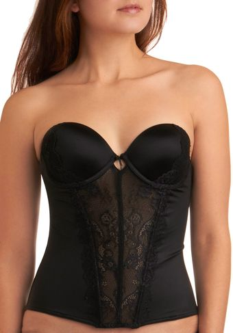 ModCloth Graceful Lace Corset in Black - Lyst