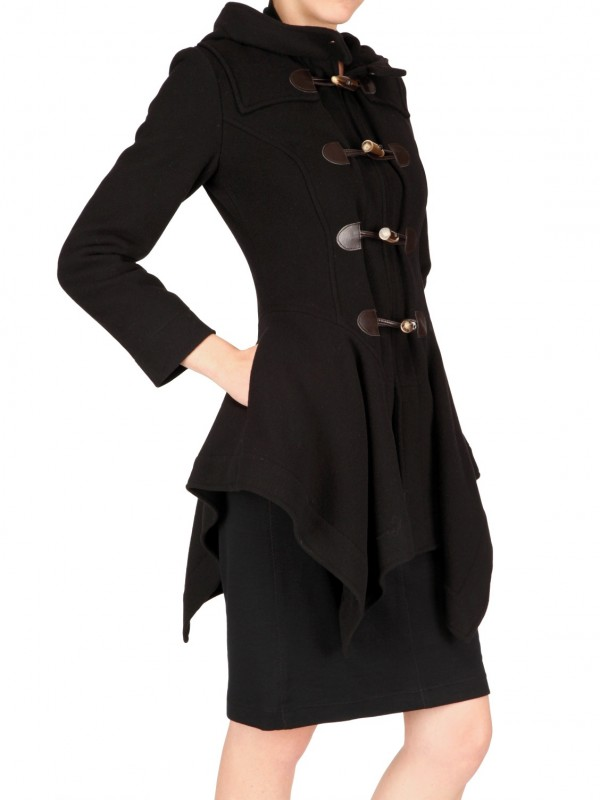 Vivienne Westwood Anglomania Hooded Coat In Black Lyst