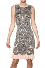 Alexander McQueen Viscose Silk Jacquard Knit Dress