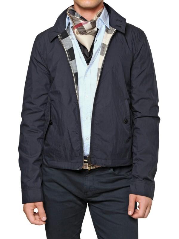 Lyst Burberry Brit Reversible Nylon Amp Cotton Sport