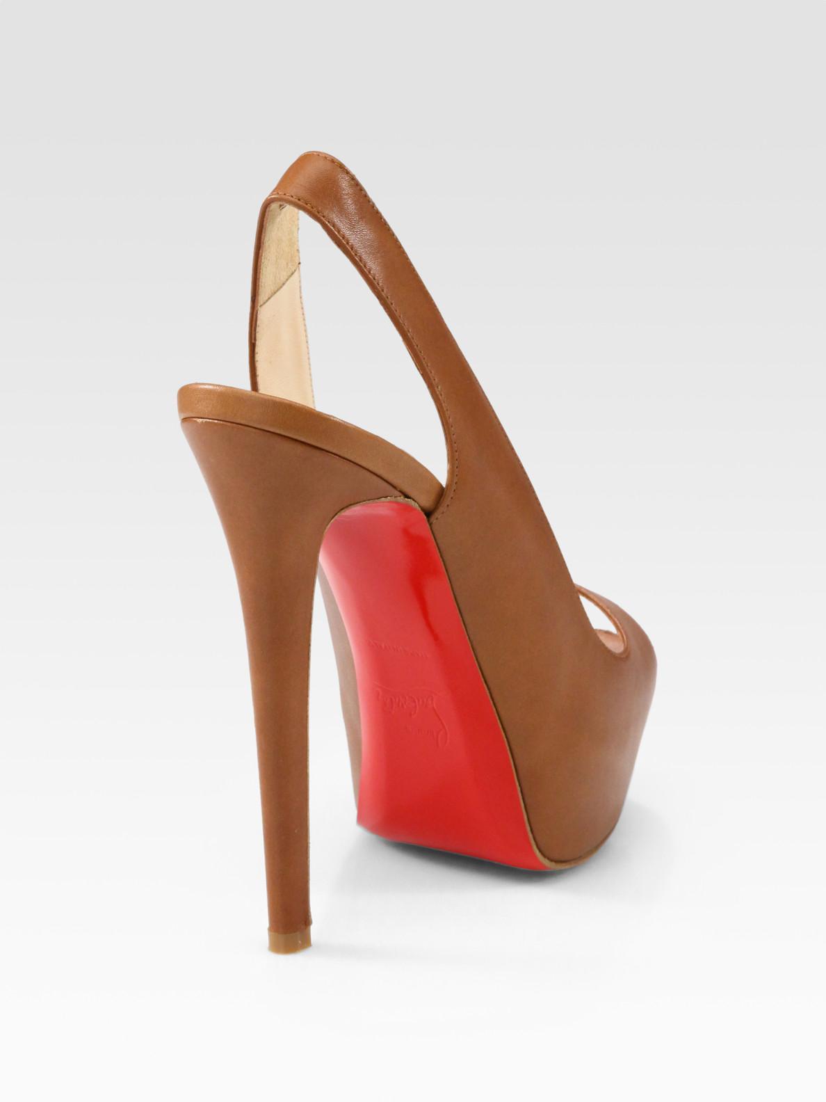 Peony Design ? christian louboutin cheyenne leather peep toe ...