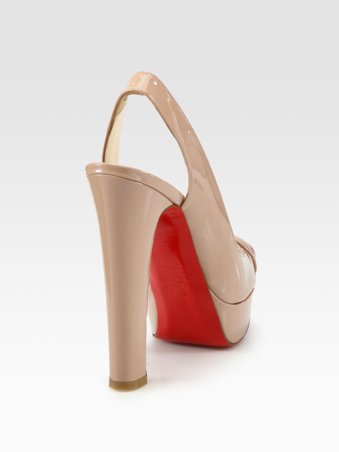 fake mens louboutin shoes - christian louboutin slingback platform sandals Black and beige ...