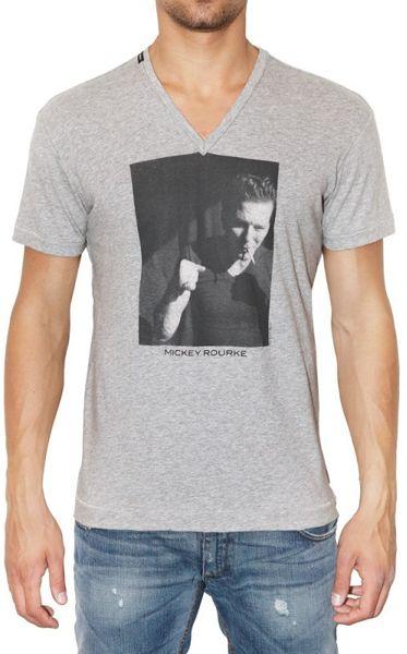 Dolce Gabbana Mickey Rourke Printed Jersey T Shirt In