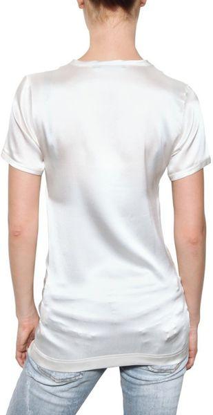 dolce gabbana marilyn print stretch silk satin t shirt