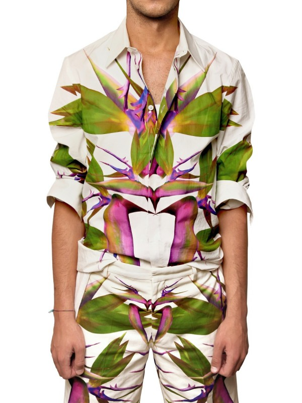 Lyst - Givenchy Birds Of Paradise Printed Poplin Shirt in ...