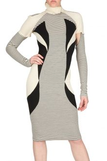 Jean-Pierre Braganza Panelled Wool Jersey Dress - Lyst