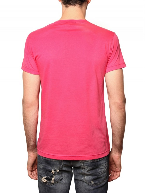 Lyst john richmond scorpion print jersey t shirt in pink for Richmond t shirt printing