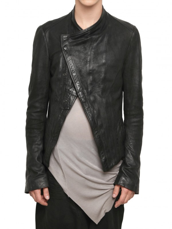 Product Features Asymmetrical zip closure. The Perfect Leather Jacket to look like a Bad-ass.