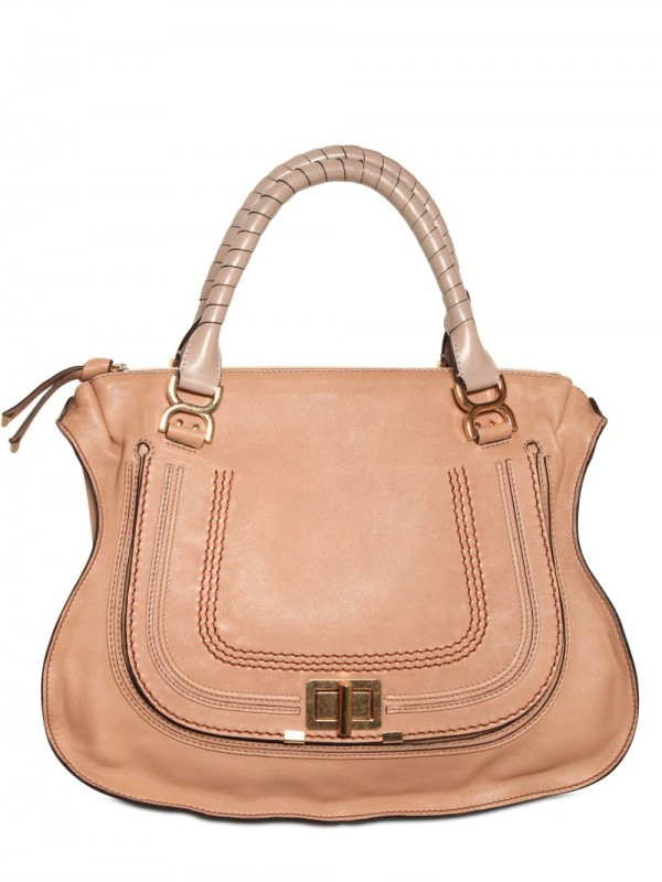 Lyst Chlo 233 Large Marcie Lock Top Handle In Natural
