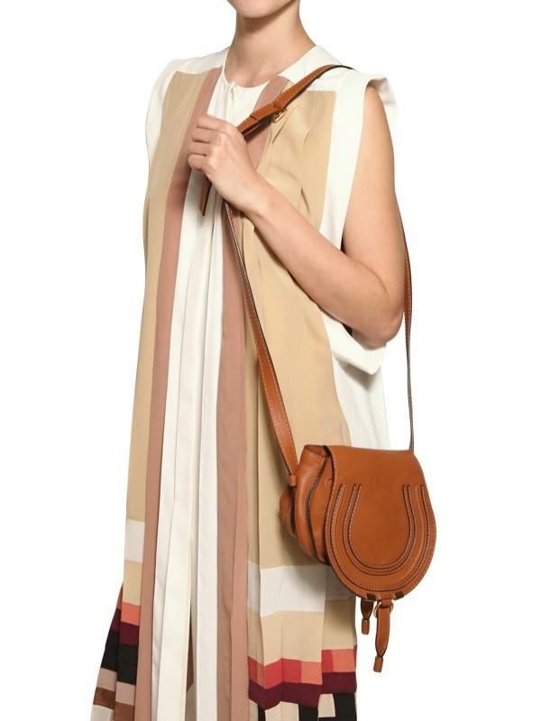chlo small marcie crossbody shoulder bag in brown lyst. Black Bedroom Furniture Sets. Home Design Ideas