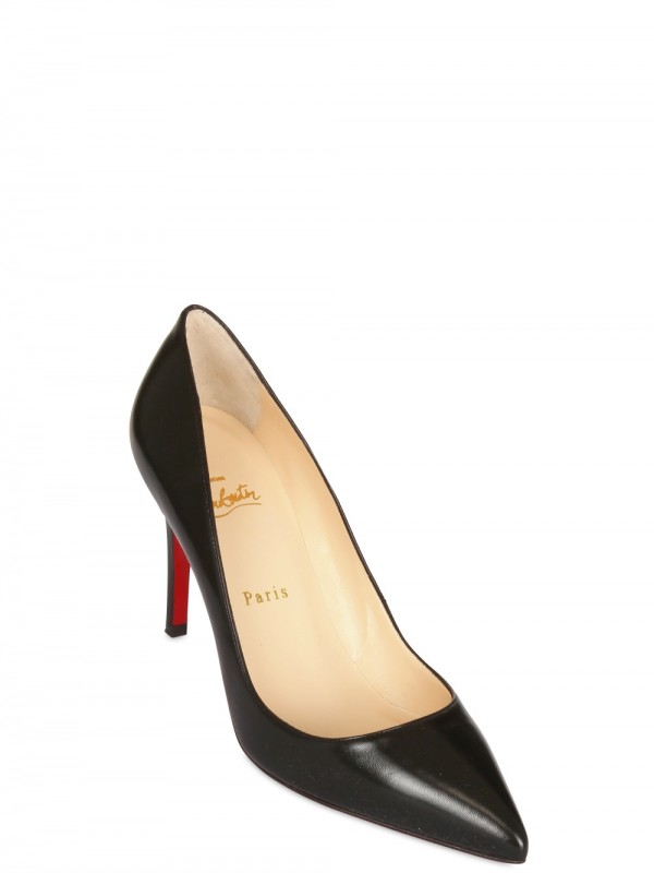 the latest 21c07 8031b Christian Louboutin Black 85mm Pigalle Kid Pointy Pumps