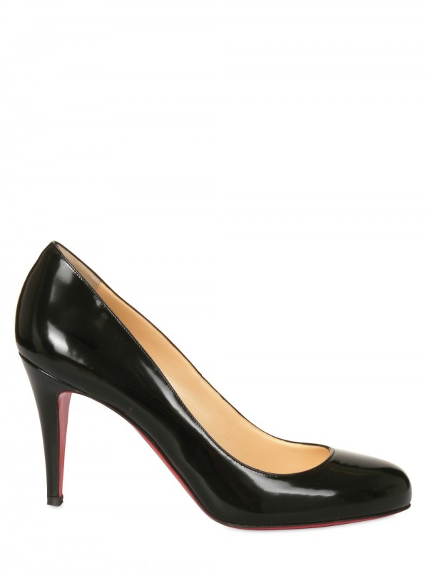 check out 84cc2 eb2be Christian Louboutin Black 85mm Ron Ron Brushed Calf Pumps