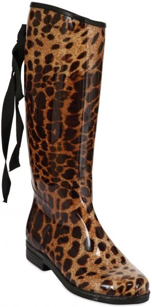 Dav Leopard Rubber Boot Boots In Animal Leopard Lyst