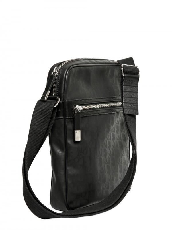 5cabc7b450d6 Dior Black Coated Canvas No 1 Trotter Messenger Bag ...