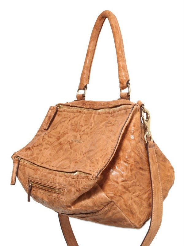 Lyst - Givenchy Pandora Medium Leather Shoulder Bag in Natural 12cb8ef5eb