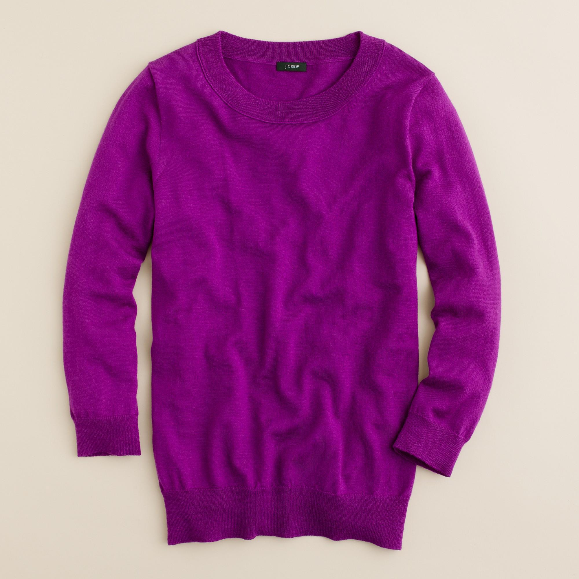 J.crew Tippi Sweater in Purple | Lyst