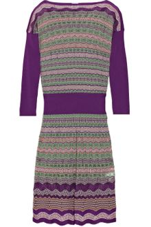 M Missoni Crochet-knit Dress - Lyst