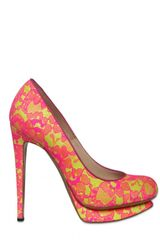 Nicholas Kirkwood 130mm Neon Lace & Leather Pumps