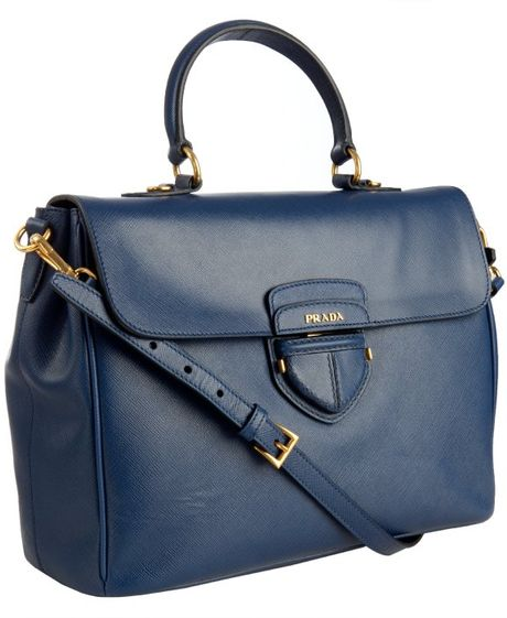 cc7d2d75328c5a Prada Saffiano Leather Tote Blue | Stanford Center for Opportunity ...