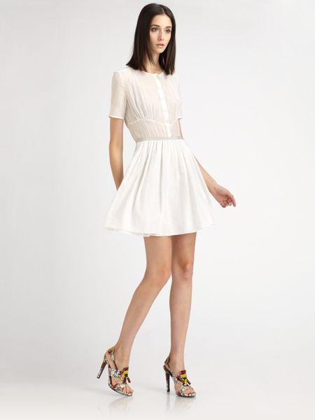 Proenza Schouler Cotton Voile Dress in White