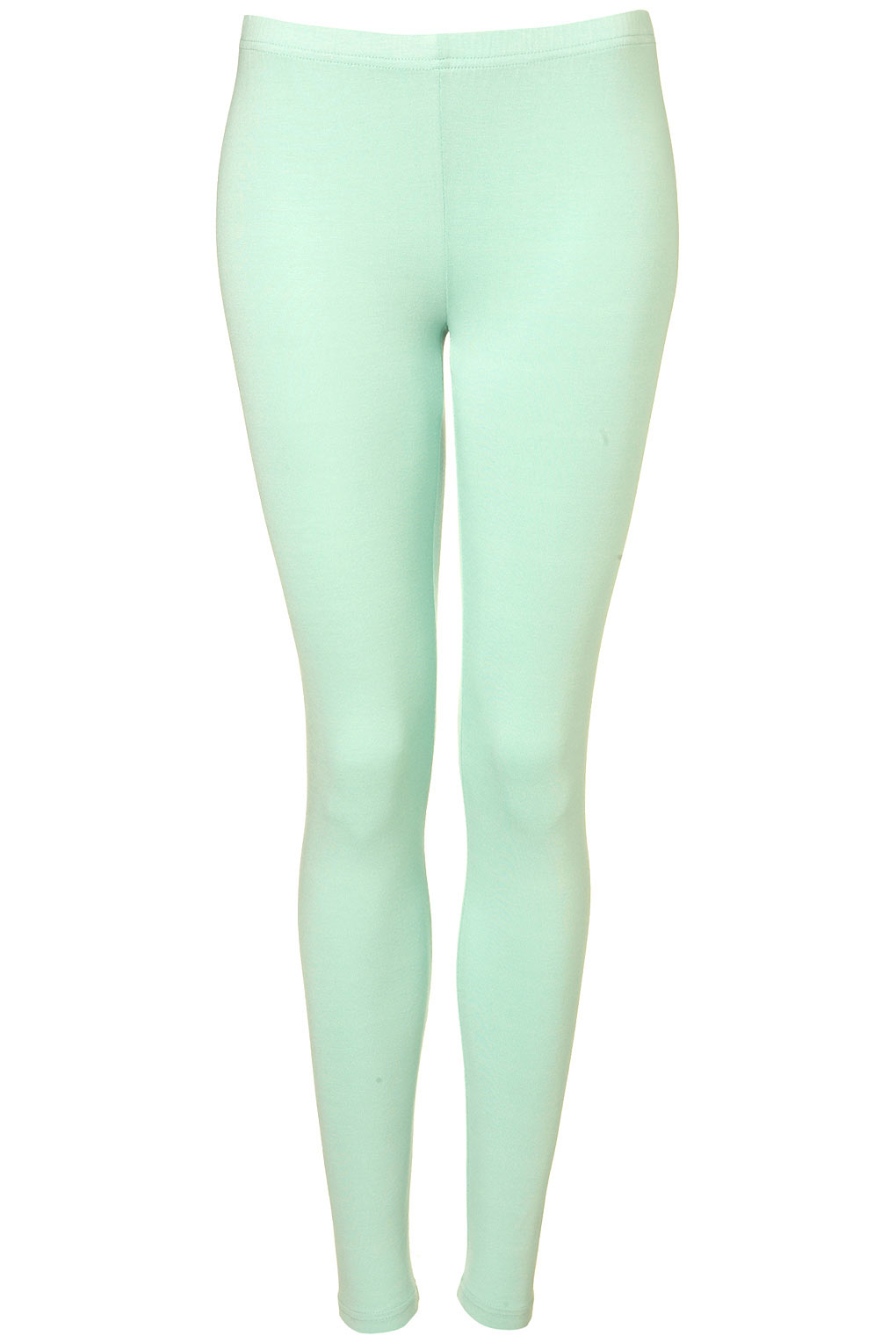 topshop coloured ankle leggings in green lyst