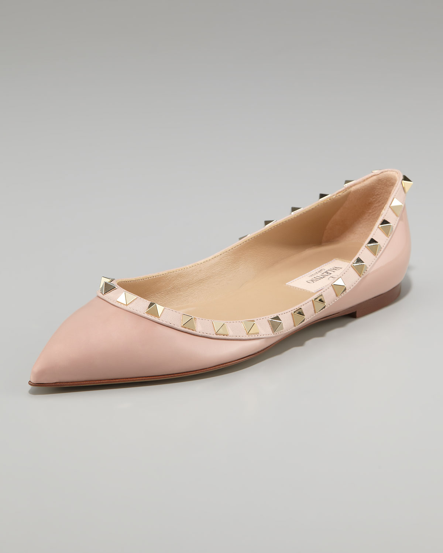 Valentino Sequin Rockstud ballerina shoes 5LJ0wtci