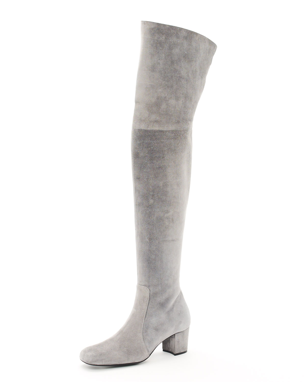 Michael kors Over-the-knee Suede Boot in Gray | Lyst