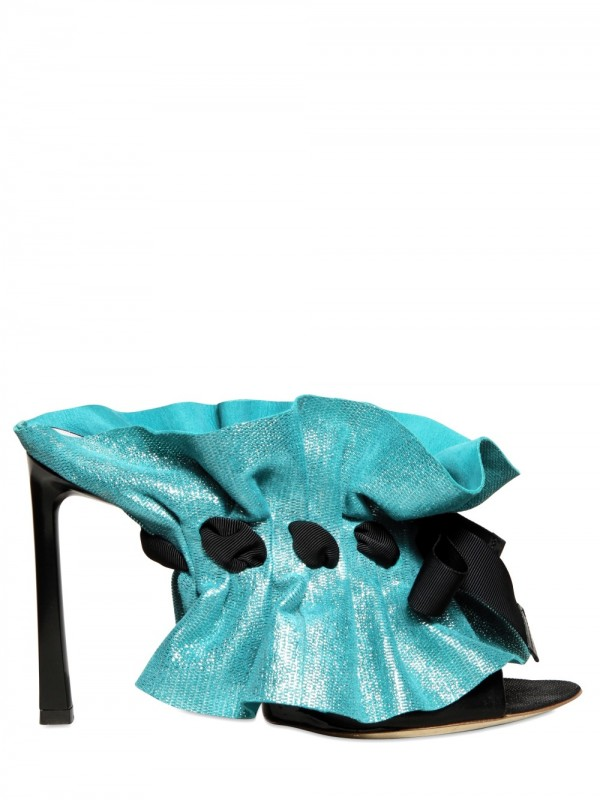 Lyst Viktor Amp Rolf 105mm Lasered Nappa Sandals In Blue