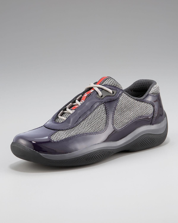 Prada Patent Leather Sneaker, Purple in