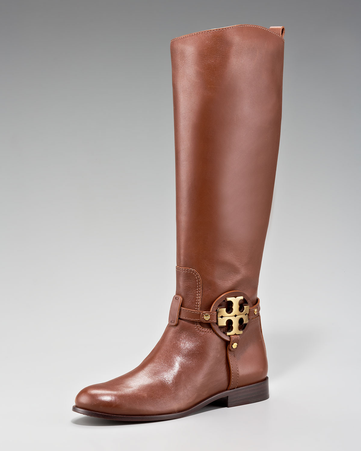 02b65653f39 Lyst - Tory Burch Aaden Riding Boot in Brown