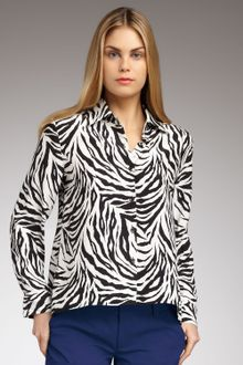 Zebra Print Blouse 114