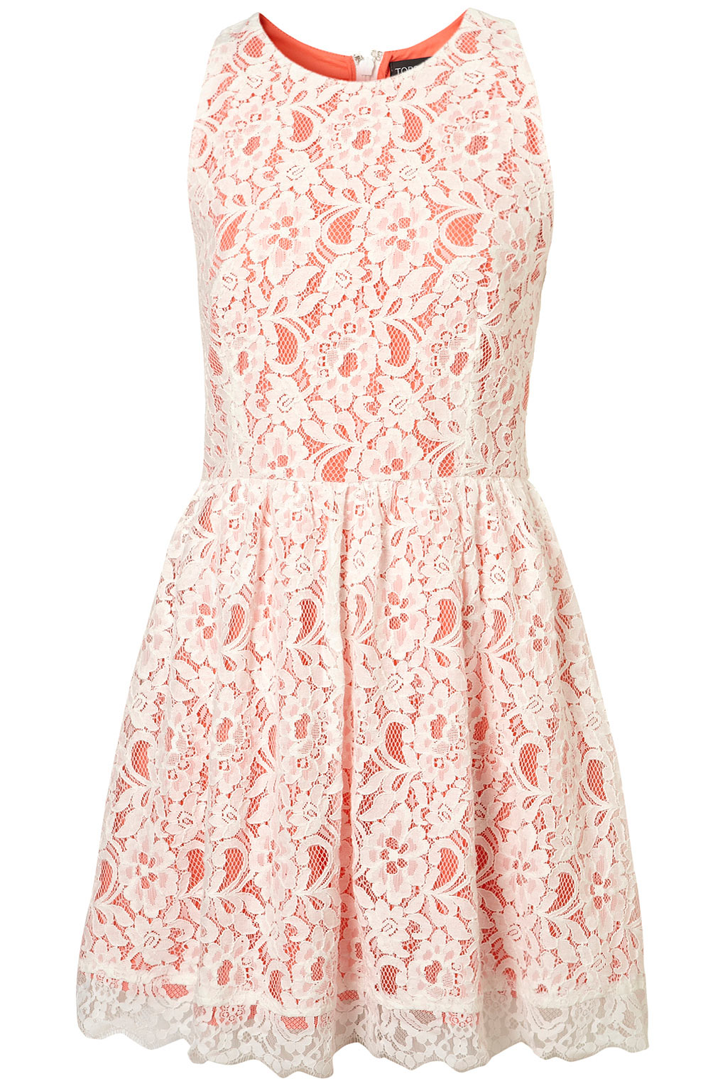 Lyst Topshop Lace Racer Cute Skirted Dress In Pink