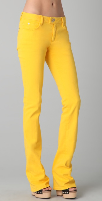 Dsquared² Boot Cut Jeans in Yellow | Lyst