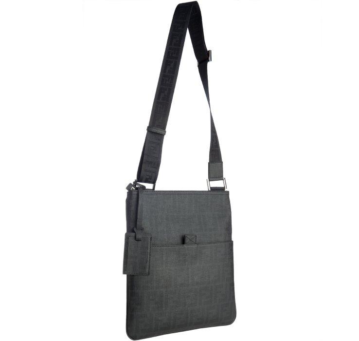 fd957f08e84 ... sweden lyst fendi black zucca spalmati medium messenger bag in black  for men a940e 98873