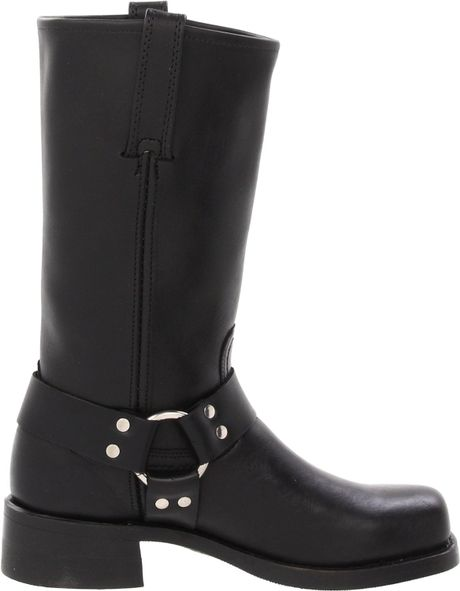 frye mens harness 12r boot in black for lyst