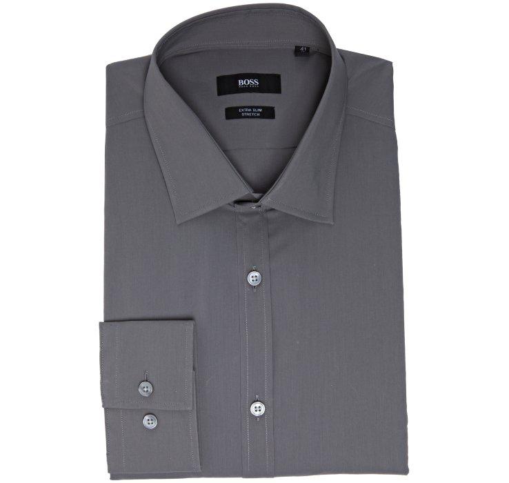 Hugo boss extra slim fit harper dress shirt in gray for for Extra slim dress shirt