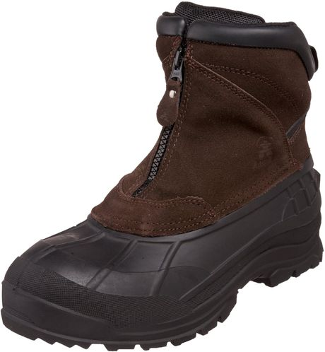 kamik mens chlain cold weather boot in brown for