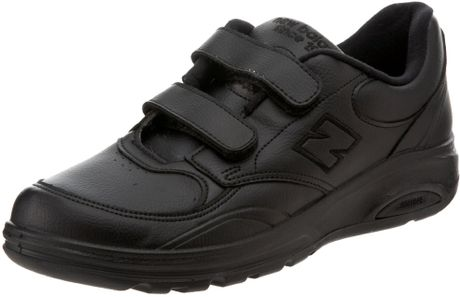 new balance mens mw812 velcro walking shoe in black for